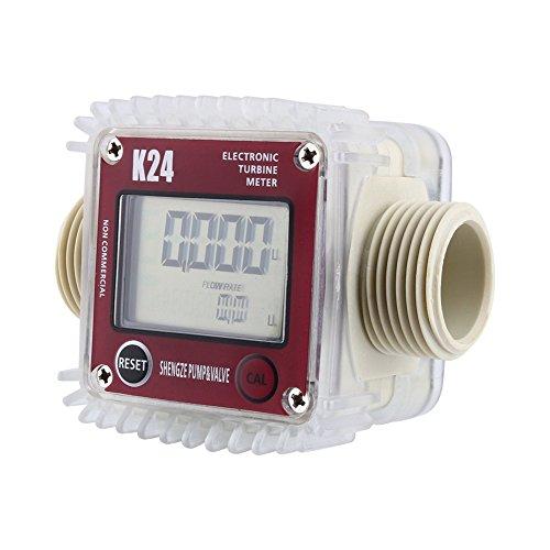 K24 digitaler Durchflussmesser für Gas, Öl, Treibstoff, Turbine, LCD-Anzeige, Korrosionsschutz für Kraftstofföl, Harnstoff, chemisches und flüssiges Wasser
