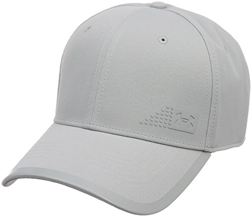 Under Armour 2018 Mens UA Seasonal Graphic Stretch Fit Water Repellent Golf Cap Overcast Grey Large/XL Golf Stretch-cap