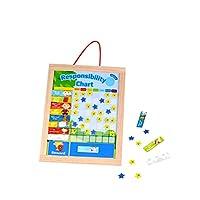 Tooky Toys TKC446 Wooden Responsibility Chart, Multicolour