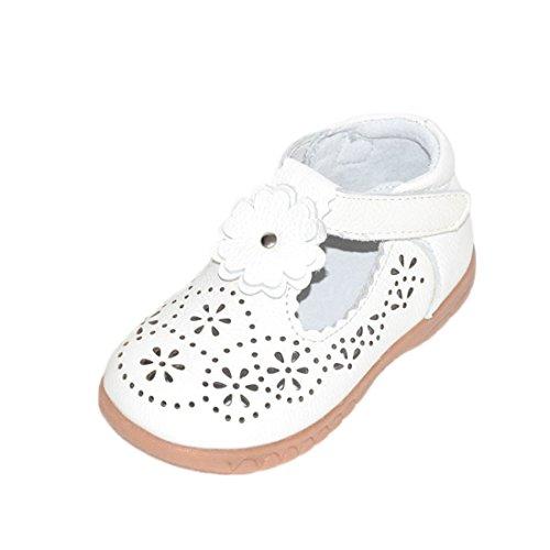 YIBLBOX Mädchen Sommer Echtes Leder Sandale Ballerina Ballettschuhe Mary Jane Weichen Sohlen Baby Leder Lauflernschuhe Flache Schuhe -