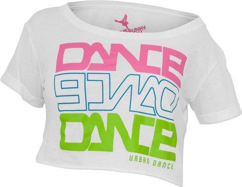 Urban Dance Short Dance T-Shirt UD001-2 white/pink/blue/limegreen