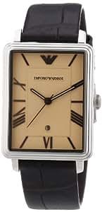 Emporio Armani Herren-Armbanduhr Analog Quarz Leder AR1661