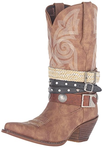 Durango Women's DRD0122 Western Boot, tan, 6.5 M US -