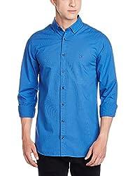 Tommy Hilfiger Mens Casual Shirt (8907504463084_P7AMW183_L_Shirt Blue)