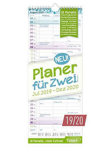 Planer für Zwei 2019/2020 Wandkalender mit 3