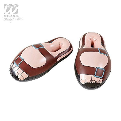 Inflatable Sandals 56Cm Shoes Footwear Accessory for Tropical Beach and Hawaiian Fancy Dress Up Costumes and (Up Dress Outfits)