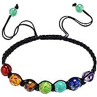 Pinzhi7 Chakra Healing Balance Perlen Armband geflochtene Yoga Reiki natürliche Edelsteine preisvergleich bei billige-tabletten.eu