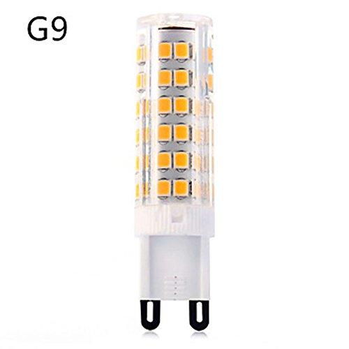 HBR L'ampoule de G9 LED Allume l'équivalent d'un AC 220-240V de T de 7W T 75SMD Un 40W 2835 400-450lm (Couleur : Blanc Chaud)