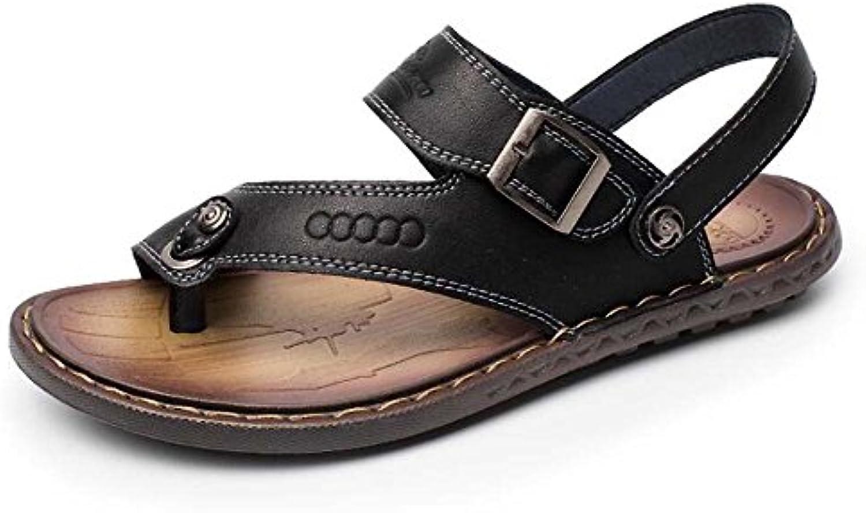 MYI Sandali da Uomo Flip Flops Toe Beach Scarpe Dual Antiscivolo Fondo Morbido Scarpe Casual Nuova Estate Nero... | Di Alta Qualità E Basso Overhead  | Uomini/Donne Scarpa