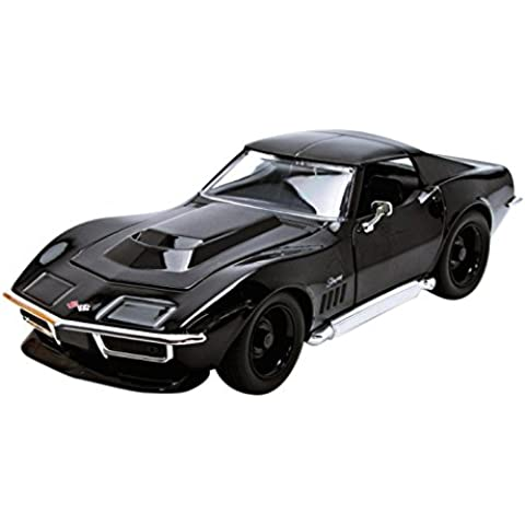 Jada Toys - 96891Bk - Chevrolet Corvette Stingray - 1969 - 1/24 Escala - Negro
