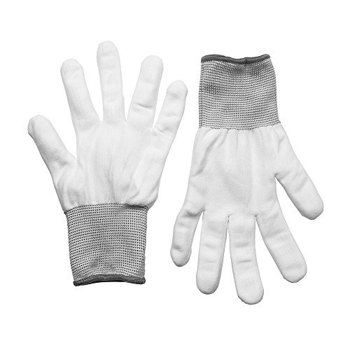 7MO 7MO Vinyl Appliation Cotton Gloves Anti-Static for Vinyl Film Wrapping (4 Pair White)