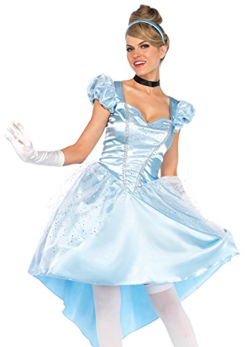 Leg Avenue 85624 - Kostüm Set Bezauberndes Cinderella, Damen Fasching, L, blau