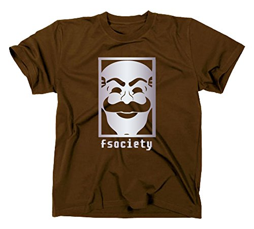 Fsociety T Shirt, Evil Corp Corporation, Hacker, anonymous, L, braun