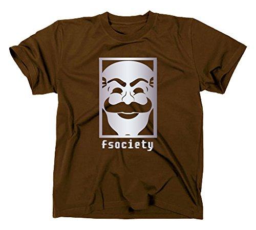 Fsociety T Shirt, Evil Corp Corporation, Hacker, anonymous, XL, braun
