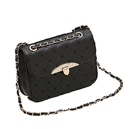 78720d59bf342 Gesteppte Handtasche Kunstleder Vintage Stil Abend Tasche Herzen Goldkette  Schwarz