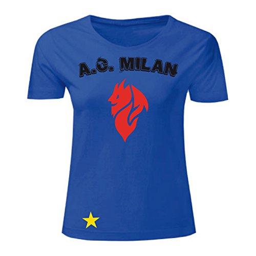 Art T-shirt, Maglietta Milan Evil, Donna Blu