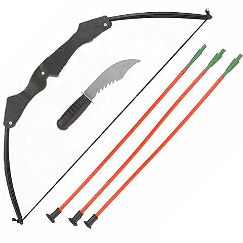 Panoplie de ninja, avec arc, couteau et 3 flèches -