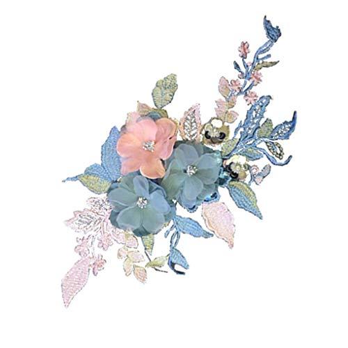 Flushzing Handgemachte Blumen DIY gestickte Kleidung Aufnäher Applikation Craft Kostüm-Gewebe-Paste Zubehör -