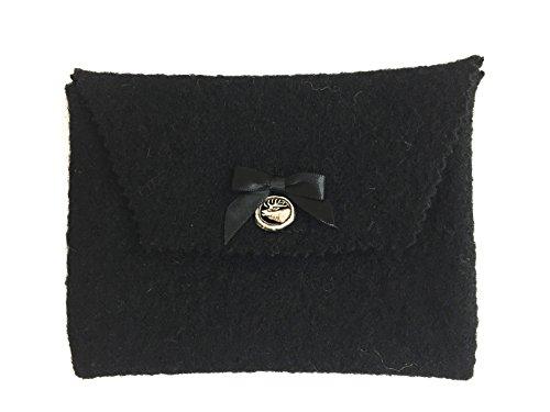 Trachtentasche, Dirndltasche, Filztasche, Dirndlschürzentasche, Gürteltasche für Dirndl, schwarze Tasche, Dirndlschürze