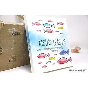 Gästebuch Konfirmation, Kommunion, Firmung, Taufe Personalisiert - Eintragalbum - Erinnerungsalbum für Patenkind