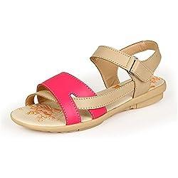Auspicious beginning Bequemes Blick-Zehe-Leder Sandals flache Strand-Schuhe für Frauen