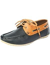 Vee Men's Black and Tan Casual Shoes 8 UK