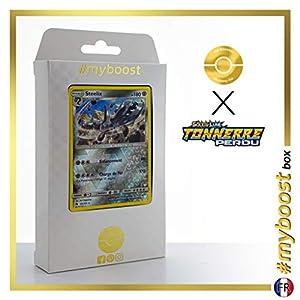 Steelix 125/214 Holo Reverse - #myboost X Soleil & Lune 8 Tonnerre Perdu - Box de 10 Cartas Pokémon Francés