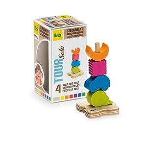 Erzi gira en solitario Junta de apilado de madera del juguete alemán