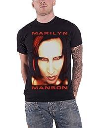 Marilyn Manson Shirt Bigger Than Satan Close Up Official Mens Black