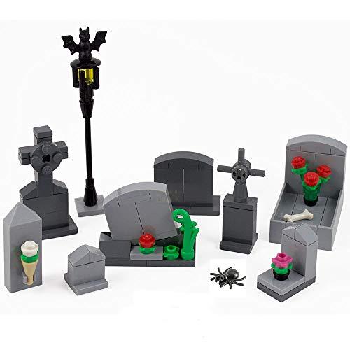 B-Creative Scary Blocks GrabSteine Friedhof mit Gräbern HeimGesuchten Haus Halloween GrabSteine Limitierte Auflage