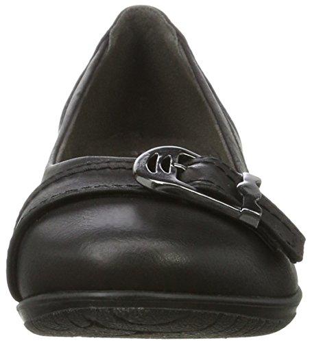 Softline 22161 Damen Geschlossene Ballerinas Schwarz (Black)