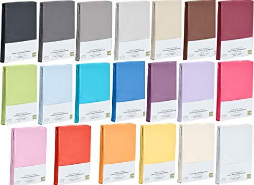 Hometex Premium Textiles Spannbettlaken Spannbetttuch bis 23 cm Steghöhe | Bettlaken Jersey aus 100% Baumwolle | 90-100x200 cm Magenta | ÖKO-TEX Standard | Viele Größen und Farben erhältlich (Jersey Kinder)