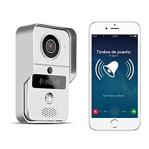 Nudito Kit Videoportero WIFI N2. Interfono Portero Automático Inalámbrico con función Vigilancia. Cámara Exterior Impermeable con Visión Nocturna. Desbloquear con Móvil a Distancia y Tarjetas RFID