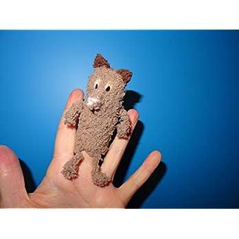 gehäkelte Fingerpuppe Fuchs, handgemacht / Puppentheater / Puppenspiel
