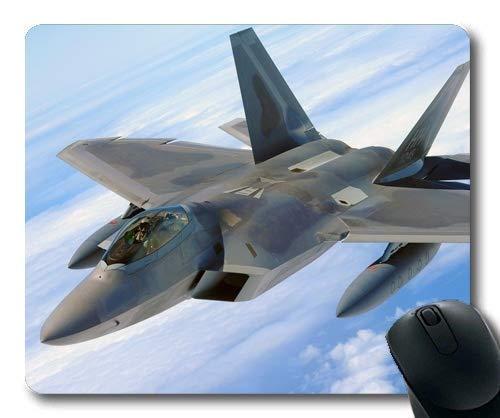 Kampfflugzeug, Mauspad, Straßenkämpfer Kostüm, Mauspad mit genähten Kanten
