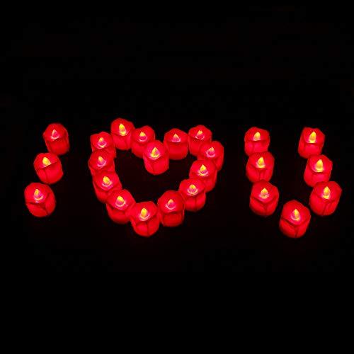 Mortimer Lamb LED Weihnachtskerzen,LED Kerzen,Mini buntes romantisches elektronisches Licht der Kerzen-LED für Weihnachtsfest verzieren