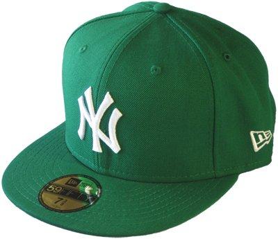 New Era New York Yankees Cap Mlb Basic Green / White - 7 - 56cm