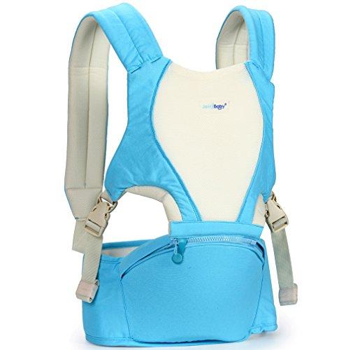 ZYT Multifunktionale Doppel Baby Sling Sitz Lenden-, Schulter, Taille und Hocker Bank kühl, atmungsaktiv , days blue -