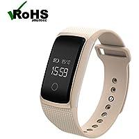 BreLINE Reloj Deportivo con Rastreador de Actividad Sleep Seguimiento de Calorías Pista para Actividad Diaria y Apagado Reloj Sport Pulsera Bluetooth Móvil Compatible con iOS y Android con App