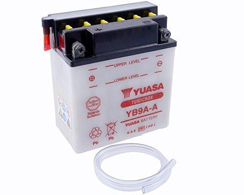Batterie YUASA-yb9a-a für Honda TRX125FourTrax 125ccm Baujahr 85-86