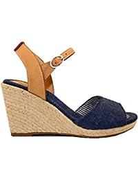 Foster Footwear Sandali con Zeppa Ragazzi, (Navy 18), 40 2/3 EU