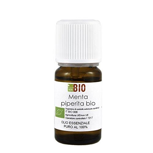 Olio essenziale MENTA PIPERITA BIO 10ML 100% PURO E NATURALE - AROMATERAPIA COSMETICA ALIMENTARE