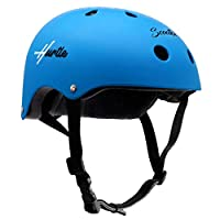 ‏‪Sports Safety Bicycle Kids Helmet - Toddler & Child Bike Helmet w/Adjust Knob, Chin Strap, Ventilation -Toddlers/Childrens Helmet for Cycling Skateboarding Kickboard Scooter - Hurtle HURHLB45 (Blue)‬‏