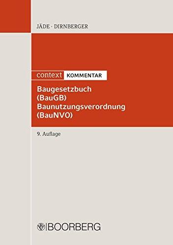 Baugesetzbuch (BauGB) Baunutzungsverordnung (BauNVO): context KOMMENTAR