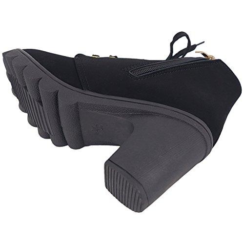 Generic - Stivali a tacco alto donna Black+Warm Lining