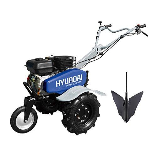 Hyundai HMTC100 Motoculteur thermique 196 cm3 Bleu Gris
