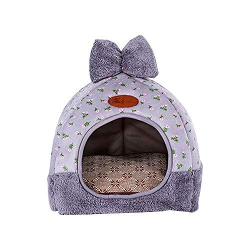 MLEC TECH Hundebett Hundekissen Hundesofa Mongolisches Yurt Shaped Pet Nest Collapsible Katze Haustier Herbst und Winter verdichtetes thermisches Zelt Bett für Hunde Katzen