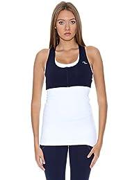 Naffta Top Active / Gym Blanco / Azul Marino M