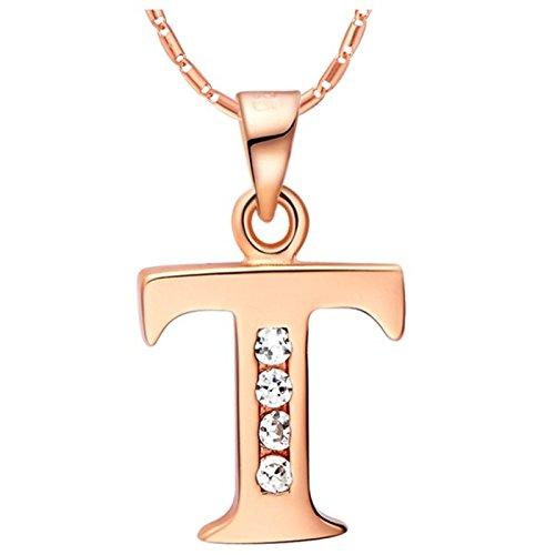 Lumanuby Bijoux Femme Collier Élégant Modélisation de lettres en anglais Forme Collier Pendentif Mariage Saint-Valentin pour les femmes accessoires bijoux (19)