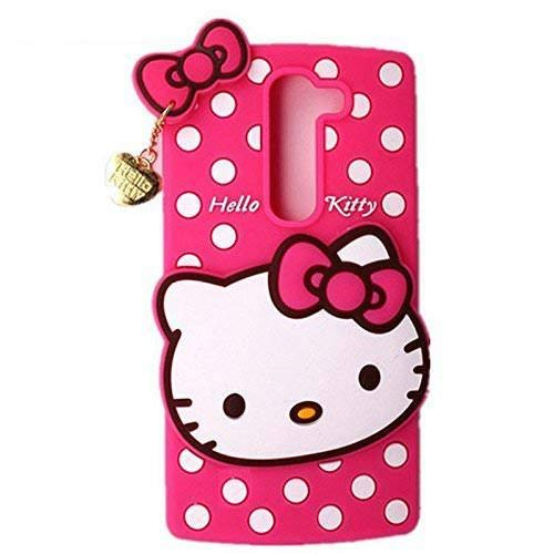 Trifty Cute Hello Kitty Soft Silicone with Pendant Back Cover for Redmi Poco F1 - Pink